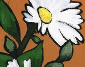 SALE - White Flowers - Original Oil Painting by Harry Boardman - unique metallic oils on canvas wildflower still life