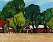 Farm Property Doylestown - Print of Original Art by HARRY
