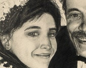 Custom Pencil Wedding Portrait by Harry 11 x 14