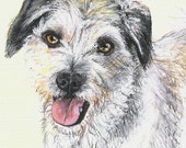 Custom Colored Pencil Pet Portrait by Harry 5 x 7