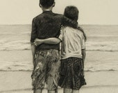 Custom Pencil Portrait Of Your Kids Or Family by Harry 11 x 14