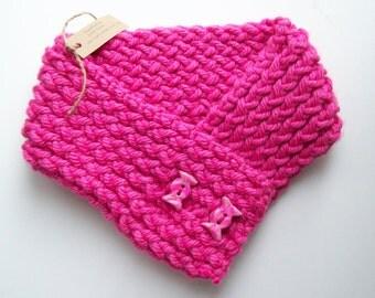 Candyland hot pink Scarflette