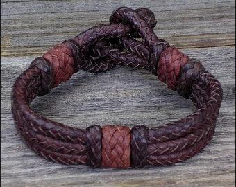 The Argentina Mens Leather Bracelet