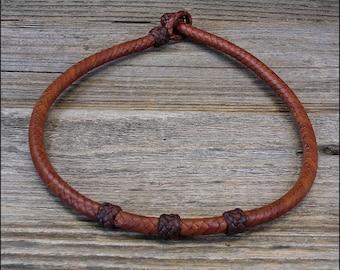 8 Strand Braided Kangaroo Leather Necklace