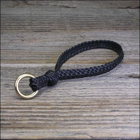 Crocodile Ridge Braid  Leather Key Chain