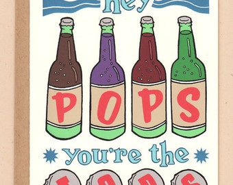 Pops You're the Tops Father's Day Card