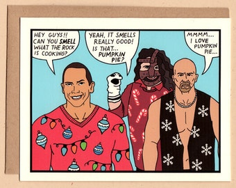 Wrestlers Holiday Card