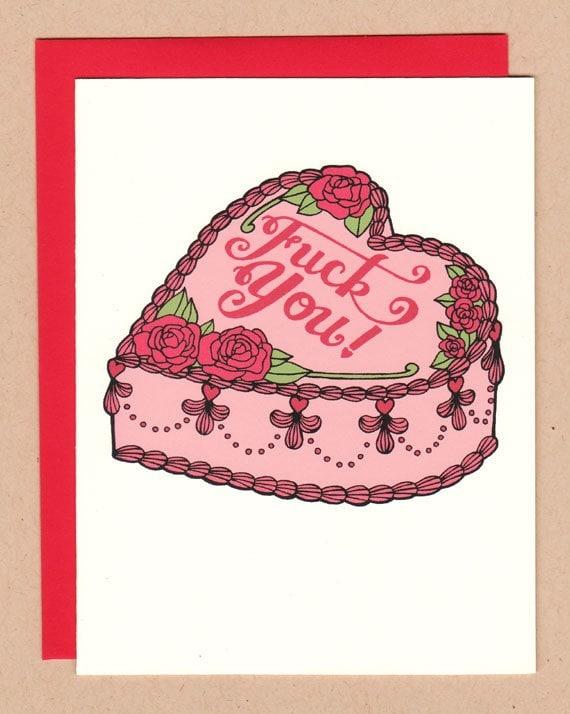 F-ck You Cake (Anti) Valentine Card