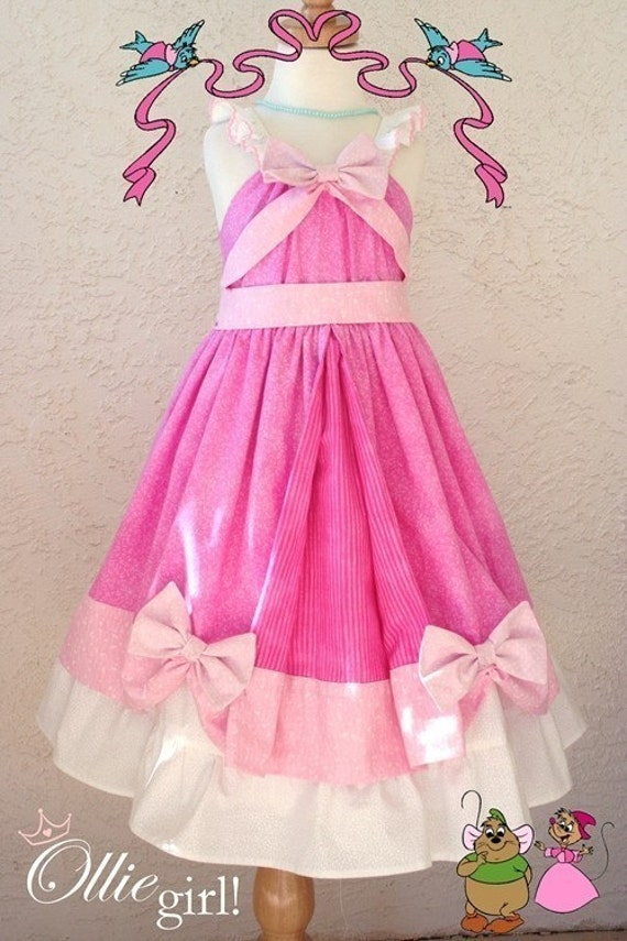 Princess Cinderella Pink Ball Gown Mice Boutique Custom Disney
