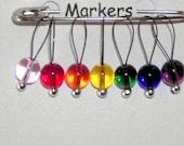 Knitting Stitch Markers, SnagFree, Stitch Marker, Rainbow Medium Loop  Set of 7