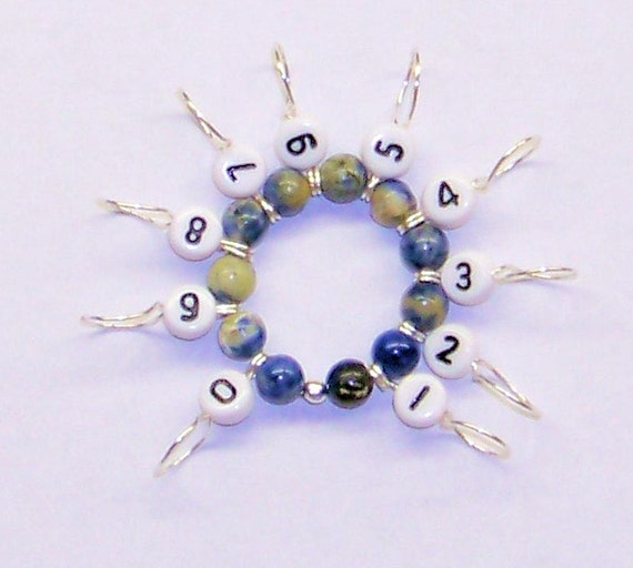 Snagfree Knitting Row Counter or Stitch Marker Circular