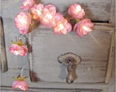 Vintage Pink -  Wild Roses Fairy Lights