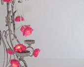 Hot Pink - French Roses Fairy Lights