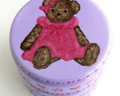 Hand Painted Love Boxes Rose Heart Teddy Bear Box Wood