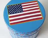 Hand Painted Love Boxes American Flag Box Wood
