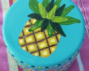 Hand Painted Love Boxes Pineapple Box wood