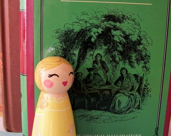 Hand Painted Love Boxes CUSTOM A Tale of Two Cities The Little Seamstress Peg Doll Wood
