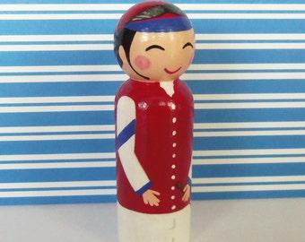 Hand Painted Love Boxes Racing Silks Jockey Kentucky Derby Preakness Belmont Peg Doll Wood