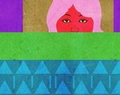 Blanket, (Minimalist Portrait) 8X10 Art Print