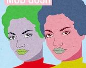 Oh Mod Gosh, (Fashion Model Magazine Illustration)  Art Print
