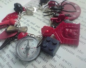 Red and Black charm bracelet - Reserved
