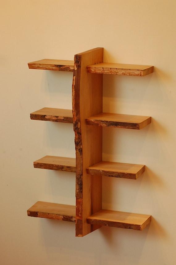 No. 7 - Four Level Live Edge Shelf