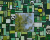 Mosaic Mirror Shades of Greens Wall Hanging by Red Crow Arts