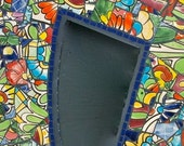Mirror Mosaic from Recycled Broken Talavera Planter by Red Crow Arts