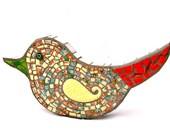 Little Bird Mosaic Art by Red Crow Arts