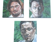 ABC's Lost Character Paintings (Jack Sheppard, Sawyer, Ben Linus)