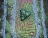 Wrapped Up In Love Heart Art Quilt Collectible OOAK Needled Felted