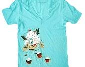 Cupcake Monster T-Shirt - Medium V-neck