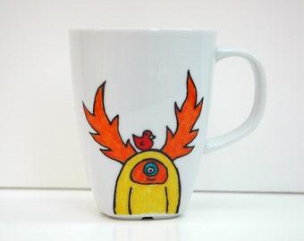 Yellow Monster Mug