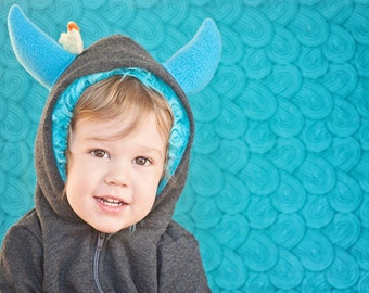 Customize Your Little Monster Hoodie -Toddler - monster hoodie, horned sweatshirt, custom jacket