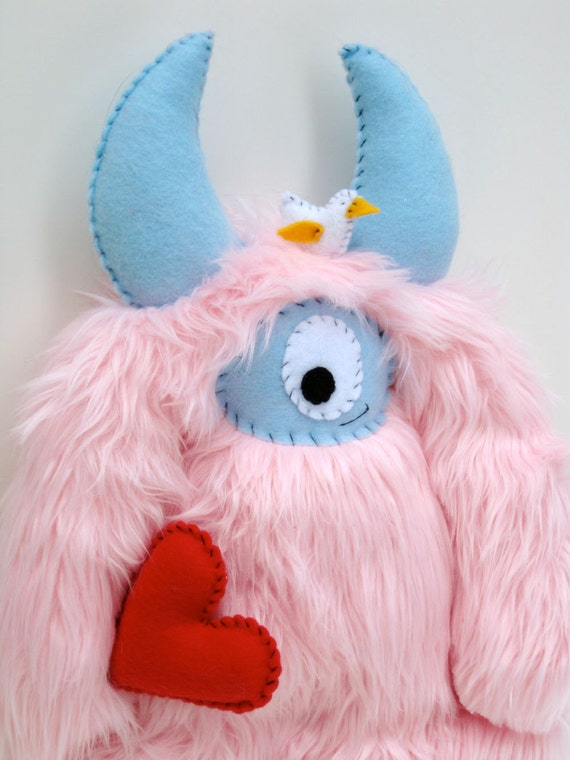 Gloria, The Love Monster - Hand-stitched plush monster
