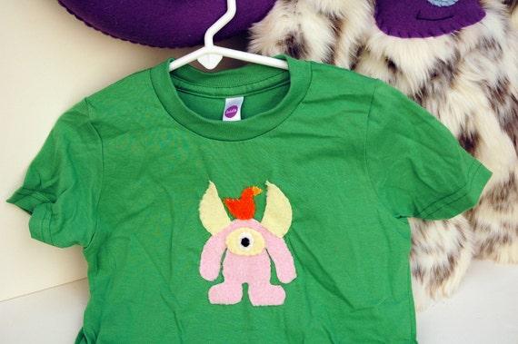 Kid's Monster T-shirt - Green size 4T