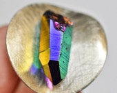 Titanium crystal Ring mineral iridescent