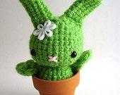 Flower Moon Bun - Amigurumi Bunny Rabbit - Daisy