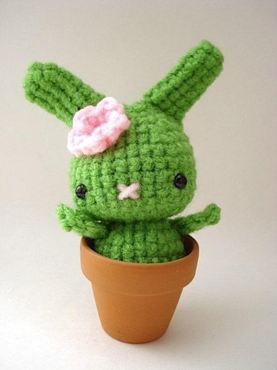 Amigurumi Flower Pot : Flower Pot Moon Bun Amigurumi Bunny Rabbit