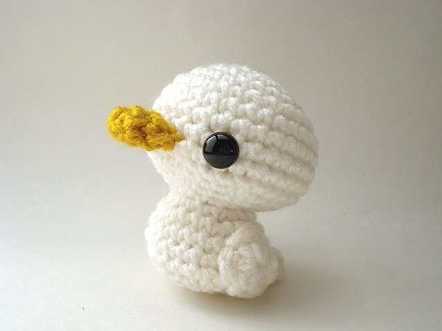 Amigurumi Duckling : Duckling Amigurumi White Duck Doll by MoonsCreations on Etsy