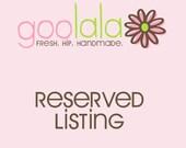 Reserved listing for Lemon Swirl Studiio