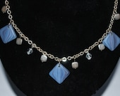 Denim Square Necklace - Reserved