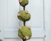 Garden Rose Topiary on Vintage Rail Perfect with Alice