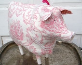 Francoise Toile Pink Piggy in Pearls