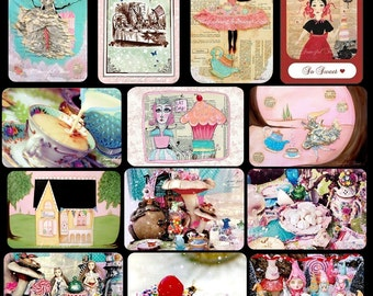 Tea and Sweets - Assorted 13 Postcard Pack -