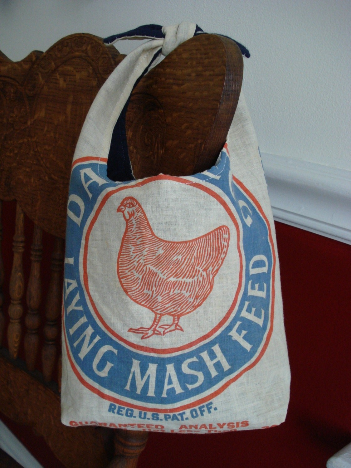 Country Chicken Feed Bag Style Purse By Ginnymae On Etsy