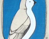 Sale-Original Painted Etching...Titmouse