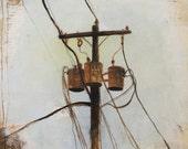 Reproduction Art Print 8x10-Power Lines