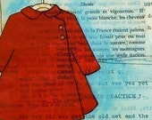 Red Coat Art Print 8x10-Little Red Coat