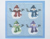 Snowman Cross Stitch Kit from PassionandPatience